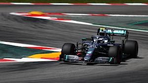 Valtteri Bottas (Mercedes-Benz) sur le circuit Catalunya de Barcelone lors des essais libres du Grand Prix d'Espagne