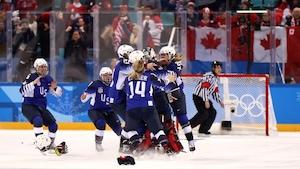 Victoire des Américaines en hockey féminin