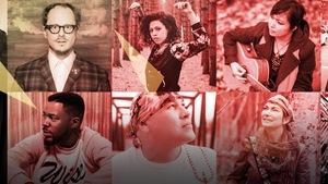 Montage photos des dix artistes du projet Vélo Paradiso.