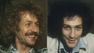Luc Plamondon et Michel Berger, le soir de la première de <i>Starmania</i> à Paris en 1979