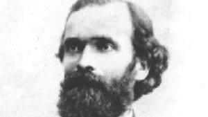 Portrait en noir et blanc de l'abbé Gaire
