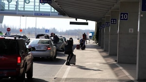 Le terminal de l'aéroport Jean-Lesage de Québec.