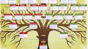 Exemple d'un arbre généalogique