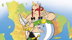 Détail de la couverture du livre Astérix chez les Québécois, de Tristan Demers