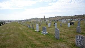 Un cimetière aux Îles-de-la-Madeleine