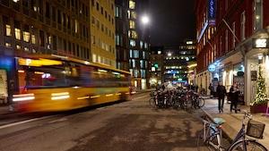 Copenhague en lumière le soir