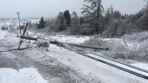 Un poteau cassé est tombé sur la route 126 au nord de Moncton
