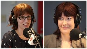 Photo de Caroline Décoste et Héloïse Leclerc en studio
