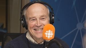 Jean-Marie De Koninck au studio 17 de Radio-Canada, le 10 décembre 2017