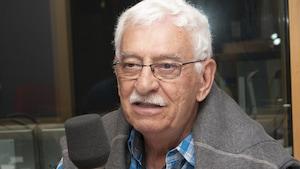 Gilles Barette au studio 90 de Radio-Canada, à Montréal, le 9 septembre 2018.