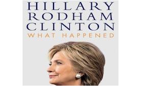 Page couverture du livre d'Hillary Clinton, « What happened »