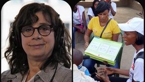 Marie-France Abastado (g) et des militantes(d) contre l'excision au Sénégal
