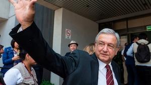 Le candidat à la présidence du Mexique, Andres Manuel Lopez Obrador