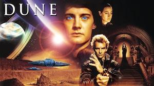 un monde futuriste, des vaisseaux spatiales, une planètes avec des anneaux et des personnages, dont le chanteur Sting