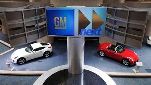 Des voitures présentées au siège social de General Motors de Détroit