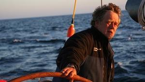Georges Leblanc à bord de son voilier