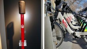 La flamme olympique de Montréal et les bixis sont l'oeuvre de Michel Dallaire.