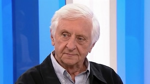 Jacques Godbout sur le plateau de l'émission 24/60 le 22 septembre 2017