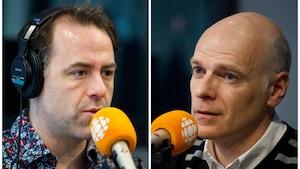 Jean-Philippe Joubert et Cédric Delort, en studio