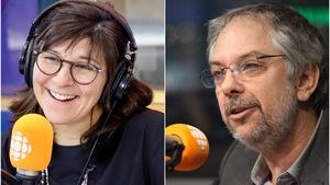 Marie Grégoire et Jean-Marc Salvet, en studio