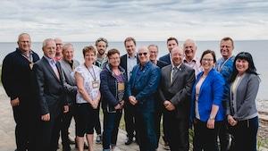 Des entrepreneurs du réseau de mentorat de la Gaspésie et des Îles.