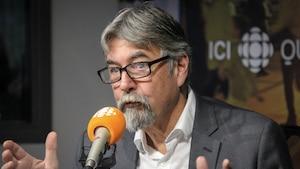 Michel David, en studio