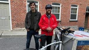 Marc-André Bourassa, coursier à vélo