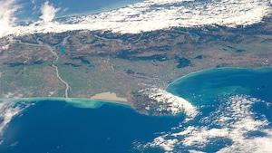 Les Alpes de Nouvelle-Zélande vues des airs