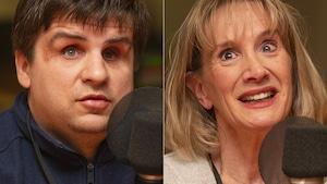 Vytautas Bucionis Jr et France Poulin au micro de Catherine Perrin.
