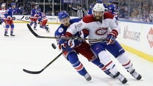 Derek Stepan des Rangers de New York et Shea Weber du Canadien de Montréal