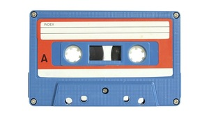 Une cassette audio.