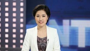 Jiang Yuan, animatrice au réseau de télévision CGTN