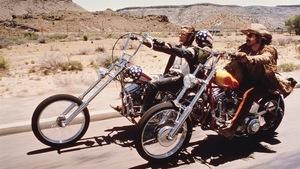 Une scène tirée du film <i>Easy Rider</i> avec Peter Fonda et Dennis Hopper (1969)