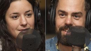 Virginie Fortin et Guillaume Girard au micro de Catherine Perrin.