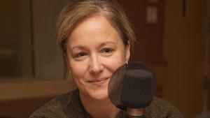 Julie Boulianne lors d'une entrevue accordée au studio 18 de Radio-Canada, à Montréal