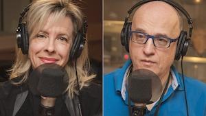 Julie Latour et Alain Vadeboncoeur au micro de Catherine Perrin.