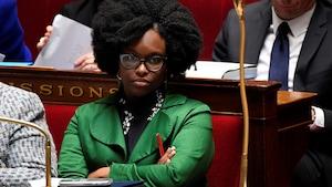 Sibeth Ndiaye à l'Assemblée nationale de Paris.