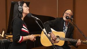 Nathalie Lord et Patrick Norman en prestation au studio 18.