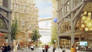 Illustration des installations envisagées pour le projet de ville intelligente Quayside, à Toronto.