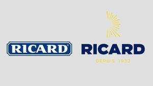 L'ancien logo de Ricard (à gauche) et le nouveau (à droite)