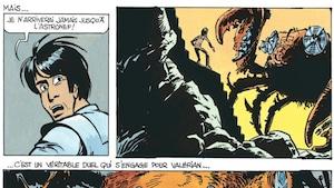 Le héros de bande dessinée Valérian, tel que dessiné par Jean-Claude Mézières