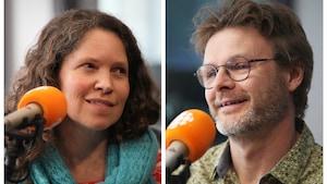 Nadine Beaudet et Christian Mathieu Fournier, en studio