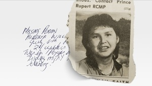 Entête du site de l'émission en baladodiffusion <i>Missing and Murdered : Who Killed Alberta Williams?</i>