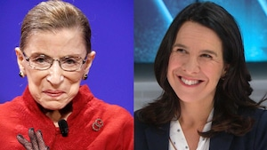 La juge à la Cour suprême américaine Ruth Bader Ginsberg et la mairesse de Montréal Valérie Plante.