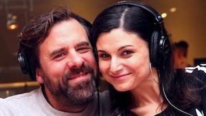 Les comédiens Bruno Marcil et Émilie Bibeau
