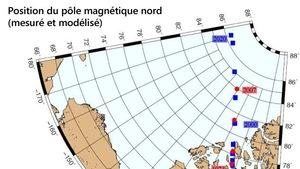 Une carte du pôle Nord