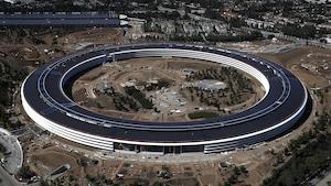 Le chantier du nouveau siège social de l'entreprise Apple à Cupertino, en Californie, le 28 avril 2017