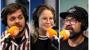 Jean-Carl Boucher, Juliette Gosselin et Ricardo Trogi en studio