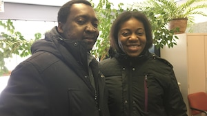 Romel Touoyem et Avit-Claire Kouamou , citoyens de Baie-Comeau