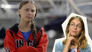 Greta Thunberg et Rosalie Dumais-Beaulieu